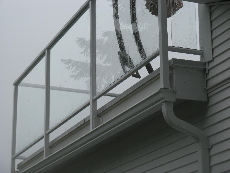 Railings Glass Panels Side Mount Deck Gutters