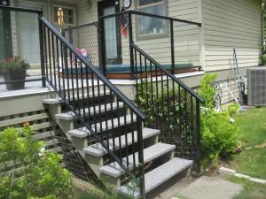 Aluminum Railing.  Stairs.
