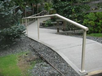 hand railing, side walk, stairs, decks, parks,
