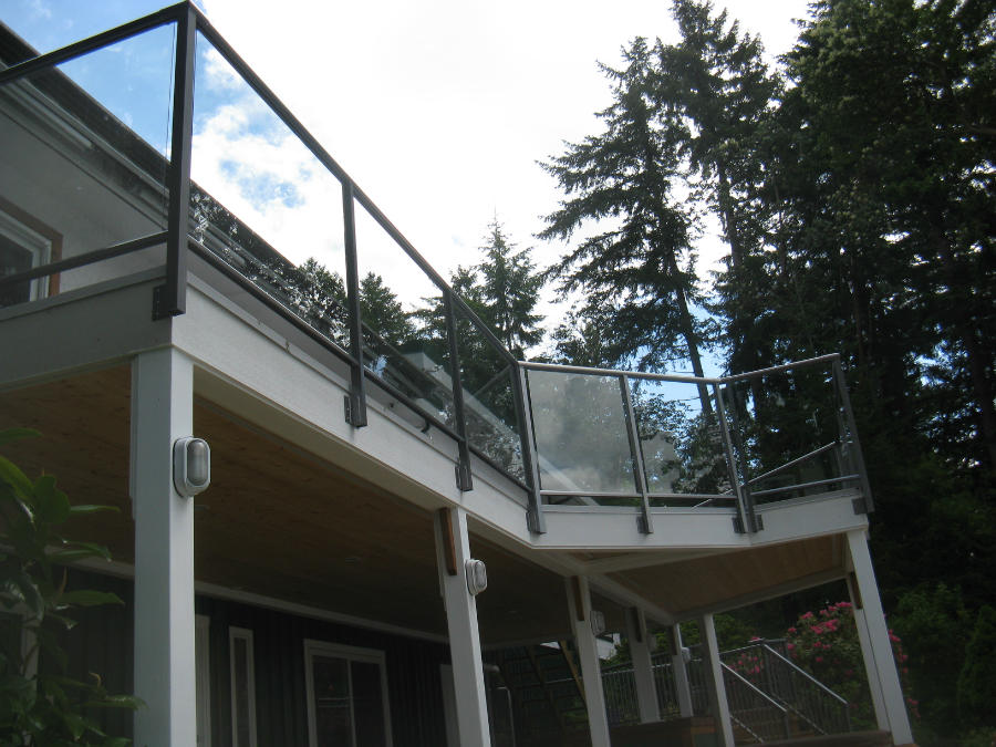 Railing Side Mount Glass Panels Deck Friendly Earth