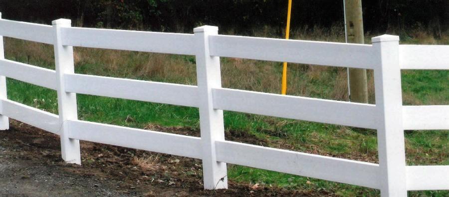vinyl fencing, 3 rail
